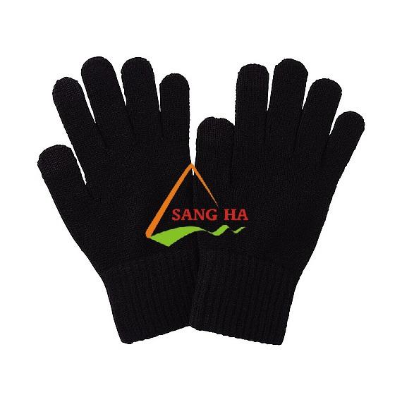 Găng tay poly màu đen